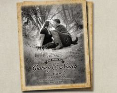Wedding Save The Dates Al Fin Photo Postcards by SAEdesignstudio