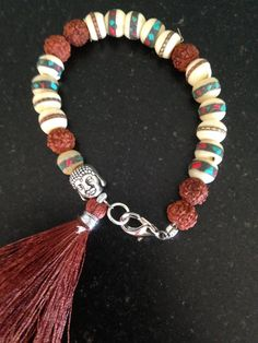 Himalaya Yoga Bracelet with Buddha and Tibetan by MessyJewelry