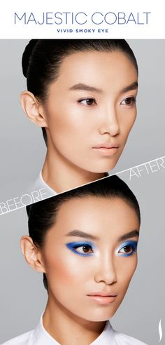Before & After: COLORVISION Majestic Cobalt Vivid Smoky Eye #COLORVISION #MajesticCobalt #Sephora