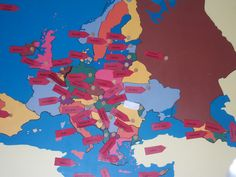 Europe map with all the labels