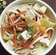 Udon with Tofu and Stir-Fried Vegetables-Fine Cooking