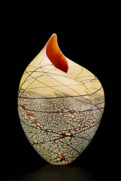 Yellow Bird - blown glass by bruce marks