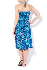 Blue Animal Print Jersey Dress  #WallisFashion