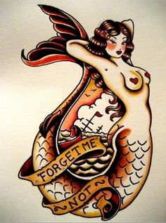 vintage tattoos tattoo retro ink pin up ship old school anchor mermaid tattoo flash traditional Tattoo artist sailor jerry Norman Keith Collins Pin Up Tattoos, Foot Tattoos, New Tattoos, Sleeve Tattoos, Henna Tattoos, Tattoo Old School, Pin Up Mermaid, Mermaid Art, Mermaid Pinup