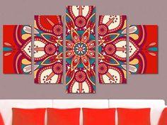 Mandala Pattern, Mandala Design, Mandala Art, Acrylic Wall Art, Diy Canvas Art, Doodle Art Drawing, Art Drawings, Fabric Wall Decor, Rajasthani Art