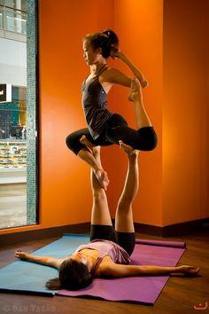 Partner Yoga- love doing this