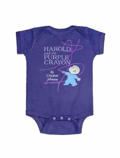35a769aebca Out of Print Harold   the Purple Crayon Bodysuit Months.