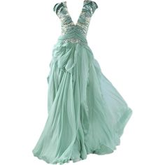 sds ❤ liked on Polyvore featuring dresses, gowns, long dresses, vestidos, green evening dresses, green gown, green ball gown, green evening gown and long green evening dress