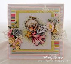 Whiff of Joy - Tutorials & Inspiration: A Pink Christmas Card.