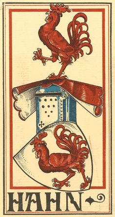 von Hahn (German) -- Baltischer Wappen-Calendar 1902 (Baltic States Coats of Arms Calendar) published in Riga by E Bruhns with illustrations by M. Kortmann.
