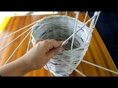 Jak zrobić wazon/doniczkę z wikliny papierowej Instrukcja - YouTube