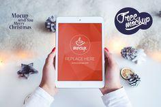 Free PSD Mockup iPad 2 Mini White Christmas on Behance