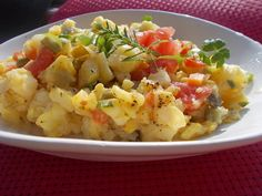 Letní bramborový salát bez majonézy Potato Salad, Cauliflower, Potatoes, Vegetables, Cooking, Ethnic Recipes, Fitness, Diet, Piglets