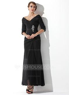 Kleider für die Brautmutter - $136.99 - A-Linie/Princess-Linie Schulterfrei Knöchellang Chiffon Kleid für die Brautmutter mit Rüschen Perlen (008006097) http://jjshouse.com/de/A-Linie-Princess-Linie-Schulterfrei-Knochellang-Chiffon-Kleid-Fur-Die-Brautmutter-Mit-Ruschen-Perlen-008006097-g6097?cver=kncf4ar7