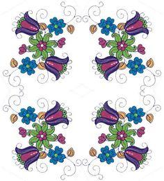 -- Idea for Bright Jacobean Flowers - Sensational Stitches | OregonPatchWorks