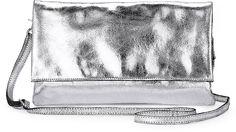 Metallic Clutch von Cox in silber für Damen. Gr. 1