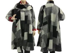 Artsy boho flared coat plus size women separate von classydress