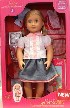 """Jenny With Book Our Generation Deluxe Doll from Our Generation World- """"I am creative and caring, and when I set my heart on doing something I have the right mix of determination and ideas to finish even the most complicated challenge! Just like you too?"""""""
