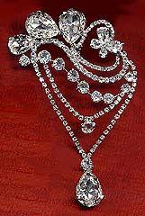 Hair Pin with Dangling Swarovski Crystal Rhinestones