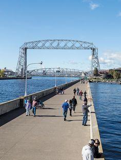 Aerial Lift Bridge in Duluth Minnesota Tourism, Miss Minnesota, Duluth Minnesota, Canal Park Duluth, Places To Travel, Places To Go, Lake Superior, North Shore, Bridges