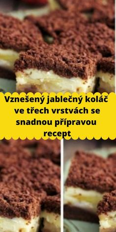 Czech Recipes, 20 Min, Sweet Cakes, Cheesecake, Food And Drink, Cooking Recipes, Breakfast, Desserts, Hampers