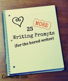 25 writing prompts