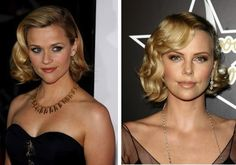 Here's a slightly less tussled and more tamed version. Aren't those soft waves just gorgeous? It's so 1950s Hollywood. Reese Witherspoon & Charlize Theron.