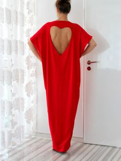Red Open Back Maxi Plus Size Oversized Backless Long Elastic Cotton Tricot Elegant Party Sprin Summer Dress caftan