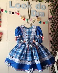 Disponível tamanho 8  Enviamos para todo Brasil 📦  #sorocaba #vestidocaipira #vestidofestajuninaxadrez #vestidoinfantiljunino… Baby Dress, Embroidery Patterns, Doll Clothes, Little Girls, Diy And Crafts, Girls Dresses, Costumes, Giza, How To Make