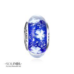Soufeel Snowy Winter Blue Murano Glass Charm 925 Sterling Silver http://www.soufeel.com/snowy-winter-blue-murano-glass-charm-925-sterling-silver.html