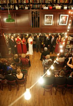Intimate SoHo Bookstore Wedding From Top NYC Wedding Photographer Otto Schulze