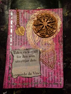 "2nd card also made February 24th. Quote from Leonardo da Vinci and translation says ""the time is enough for those using it"".  Yeah it sounds so weird, but that's direct translation for you"