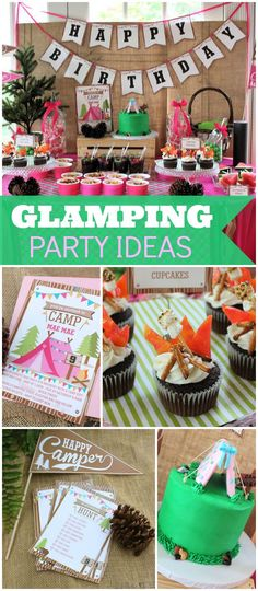 How fun is this backyard glamping party!? See more party ideas at CatchMyParty.com!