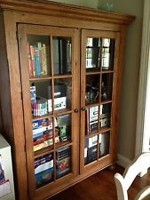 Superior Broyhill Attic Heirlooms Oak Library Cabinet