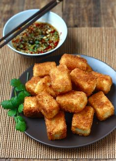 Season with Spice - Features: Fried Tofu with Sesame-Soy Dipping Sauce