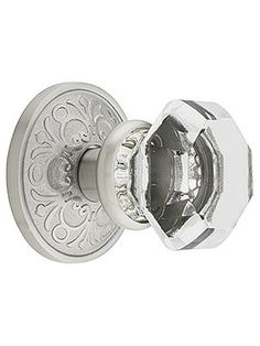Lancaster Old Town Crystal Doorknob w/ Privacy Function (for the bedrooms).  x3