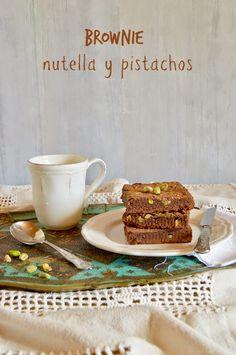 Brownie de nutella y pistachos