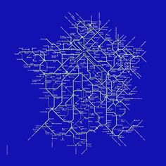 Historical Map: French SNCF Rail Network, 1976 by Rudi Meyer