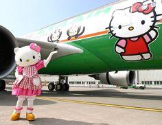 1973 hello kitty   nog niet echt. Maar in Taiwan vliegt inmiddels het derde Hello Kitty ...