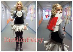 dictionfairy or book fairy costume at The Corry Story . . . great for a teacher costume