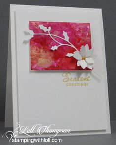 Last week I posted two CAS Christmas cards made with alcohol inks on yupo paper. I made several pieces of smooshed AIs . Cas Christmas Cards, Homemade Christmas Cards, Noel Christmas, Homemade Cards, Holiday Cards, Homemade Greeting Cards, Christmas Movies, Handmade Christmas, Christmas Ideas