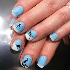 skiing nail art - Google Search
