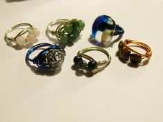 Day 7 #30doc @createstuff I made a few rings after all you cannot make one if they need friends ;~D