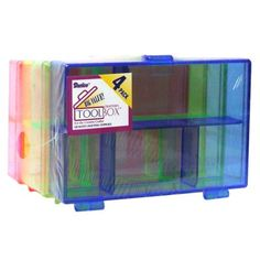 Look what I found on #blitsy! Darice Tool Box Storage Set 3.5x4.5x1 Neon 4pc #blitsybuys