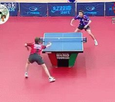 This table tennis player.