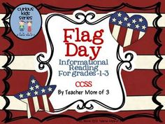 Here's a simple yet informative packet for kids to learn about why we celebrate Flag Day on June 14.  Includes a (2) page informative article with facts about the history of Flag day. Also included are star graphics to use to make a main topic and key details craftivity.