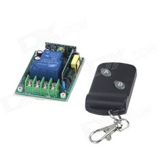 ZnDiy-BRY 220V 1-CH Remote Control Switch + Butterfly Dual-Key Remote Control - Green + Black. Wireless control, easy to install; You can turn on/off the receiver with transmitter (remote control) from any place within a reliable distance; the wireless RF signal can pass through walls, floors and doors;. Tags: #Electrical #Tools #Switches #Adapters
