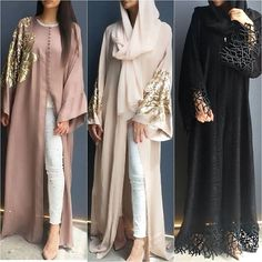 Prices & links to order these abayas are listed on the blog www.hijabfashioninspiration.com/abayas BLOG IN BIO