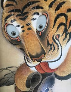Detail. Tiger. Itō Jakuchu. Japanese hanging scroll. Eighteenth century.