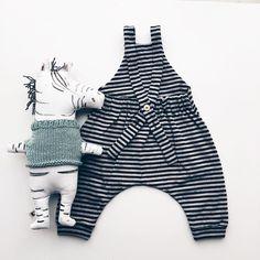 Stripy Friends #monkind #aw16 #taigacollection #organickidswear #stripydungarees #yolk #gretasschwester